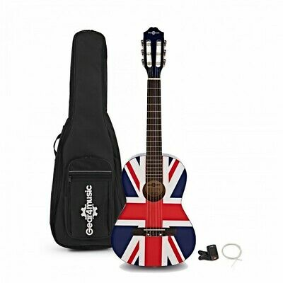 Junior 1/2 Classical Guitar Pack Union Jack by Gear4music
