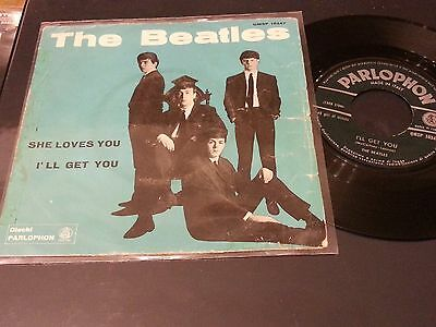 """The  Beatles 7"""" She Loves You/i'll Get You Parlophon Italy In Preparazione 1 St"""