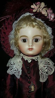 """18"""" reproduction French bisque doll - beautifully dressed"""