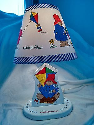 Paddington Bear Lamp Child's Baby Room Original Shade Included