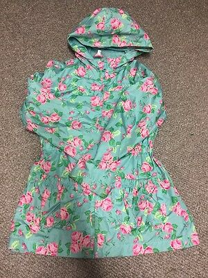 Girls Floral Cagoule Cag Mac Age 7-8 Years
