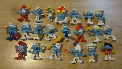 McDonald's Smurfs Happy Meal Toys Lot of 17! Smurf Figurines 2011-2013