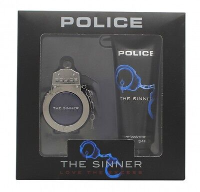 Police The Sinner Gift Set 30Ml Edt + 100Ml Body Shampoo - Men's For Him. New