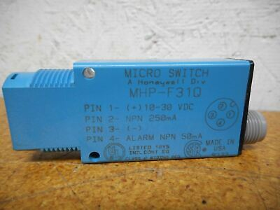 Micro Switch MHP-F31Q Fiber Optic Sensor 10-30VDC 250mA 4 Pin Connector New