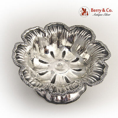 Ornate Open Salt Dish 1866 Moscow Russian 84 Standard Silver