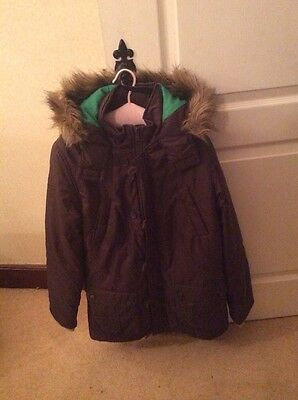 parka coat brown from marks amd spencer Age 13 - 14 Year Good Condition