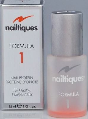 New Nailtiques Formula 1 Nail Protein Treatment 15Ml Healthy Flexible Nails