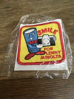 Lenny Minolta Ad Figure Advertising Smile For Camera Vintage Patch