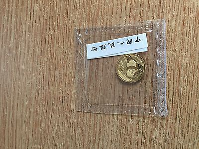 2015 Panda Gold 1/20oz with Paper in Original Mint Packaging