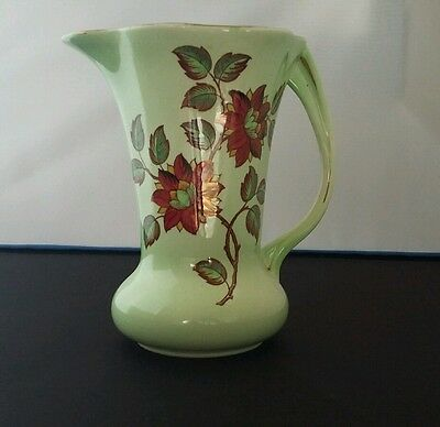 Maling ware lustre jug, floral decoration, exclusive design, stunning