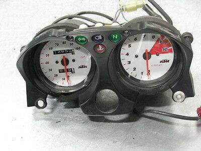 Ktm 640 Lc4 Duke 00 Gauges Gauge Dash 12K Miles Works