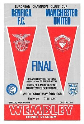 1968 - Benfica v Manchester United, European Cup Final Match Programme.
