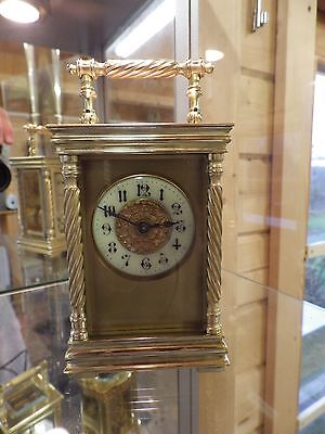 French Carriage Clock In Rare Case Style Very Art Deco Full Restoration Done