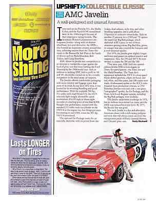 Amc Javelin  ~  Nice Collectable Classic Two-Page Article / Ad