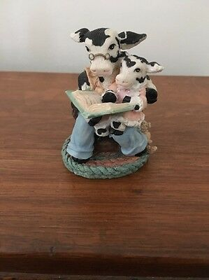 1995 Ganz Cowtown Bedtime Dairy Tales Fairy Story Time Kids Cow Figurine VGC