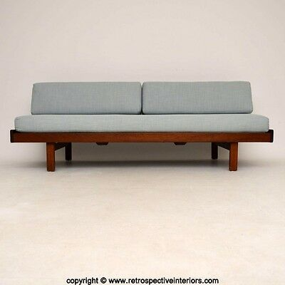 RETRO AFROMOSIA SOFA BED / DAYBED VINTAGE 1960's