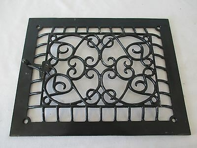 Antique Cast Iron Wall Heat Grate Vent Register 13 3/4 x 10 3/4