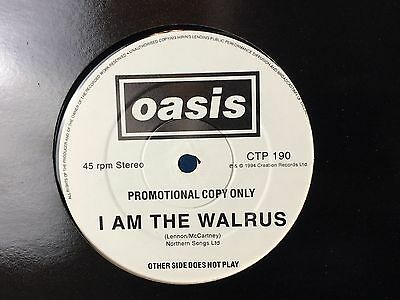 """Oasis CTP 190, 1 sided Promo, I am the Walrus, 12"""", RARE, only 250 copies"""