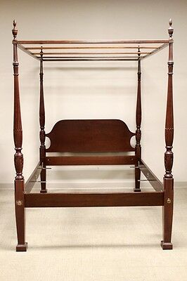 Late 20th century Mahogany Four Poster Canopy Bed