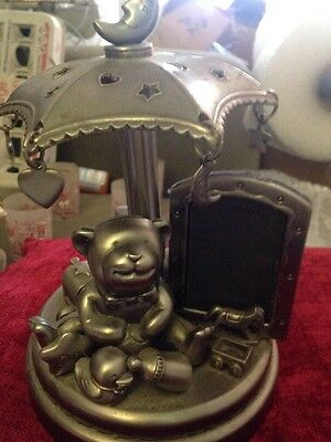 Royal Limited Musical Silver Teddy Bear & Toys Picture Frame no box