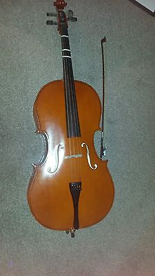 Gear4music cello with bow and case 3/4