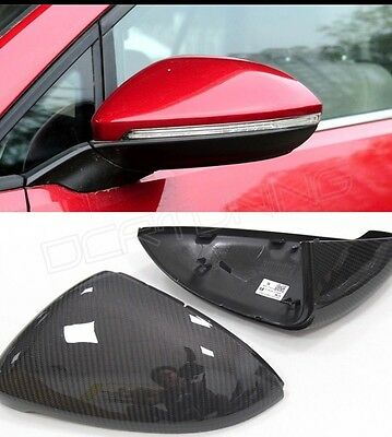VW golf MK7 Vii carbon fibre Wing mirror Caps Full Replacement Cover Gti R Gtd