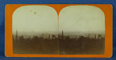 """""""Sunset from Mt. Mansfield VT"""" Stereoview Photograph #22, by L.G. Burnham"""