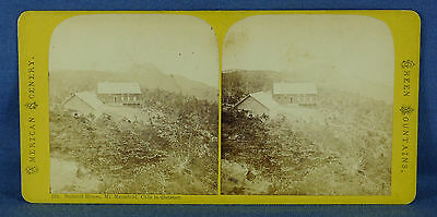 """VT """"Summit House, Mt. Mansfield"""" Stereoview Photograph, American Scenery #110"""