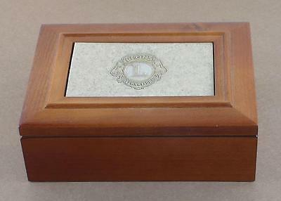 Vintage R.S Owens Wooden Box with Lions Club Insert  Very Nice