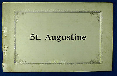 c. 1910 St. Augustine, FL Travel Brochure, Many Photos & Local Ads, 48 Pages