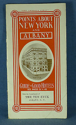 "1912 Albany, NY 40 Page Booklet: ""Points About New York & Albany"" with Map"