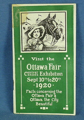 "1920 Brochure ""Visit the Ottawa Fair"" Central Canada Exposition"