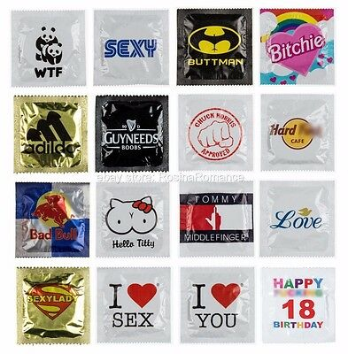 Condoms Contraception Novelty Printed Packet Funny Joke Hen Party Stag Night