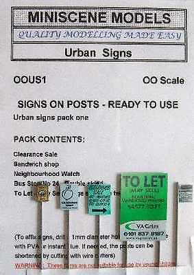 Brand New 00 Gauge Urban Signs Pack Of 5