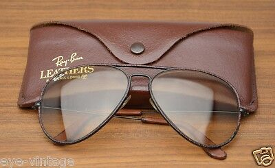 B&L Aviator Leathers Ambermatic Ray Ban Vintage Bausch Lomb Glasses Brille Photo