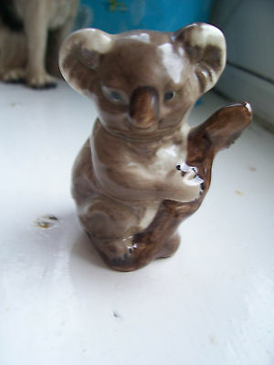 "Vintage 2.5"" Koala Bear Figurine1970's Wade Type Marked ""england"" Exc.condition"