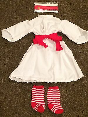 American Girl Doll Kirsten Santa Lucia Outfit Retired with box
