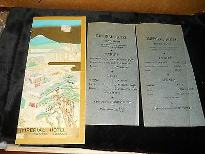brochure:imperial hotel, tokyo, japan-frank l. wright redesigned - 2 cost sheets