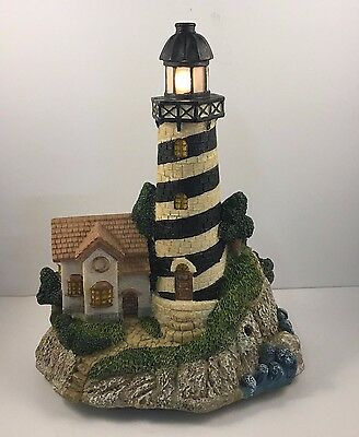 Harbors Edge Collection Light House With Light And Motion Sensor