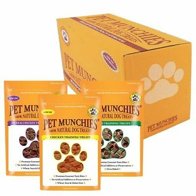 Pet Munchies Bulk Buy Boxes Of 8 Packs Various Flavours Natural Dog Treats