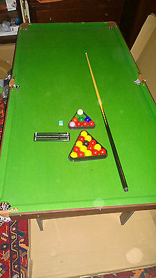 Folding Snooker / Pool table (180 x 95 cm) + accessories