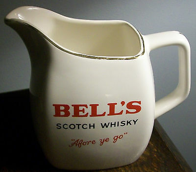 VINTAGE Bell's Scotch Whisky Large WADE Pottery Water Jug Afore ye Go