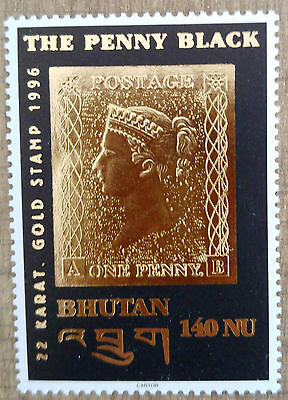 Timbre neuf du Bhoutan 1996 hommage Penny Black