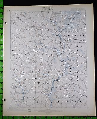 Pittsville Maryland 1914 Antique USGS Topographic Map 16x20