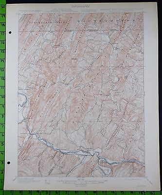 Flintstone Maryland 1922 Antique USGS Topographic Map 16x20