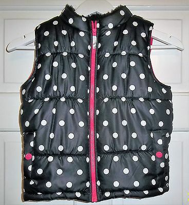 Girls Black & White Spotty Gillet - Carters - size 6