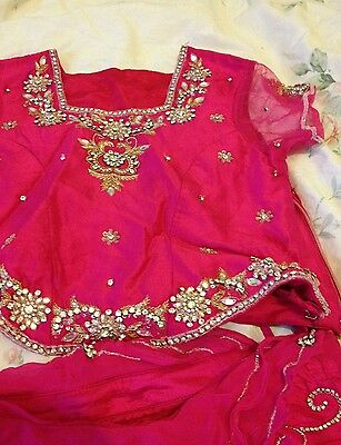 Hot pink lehenga for 5yr old