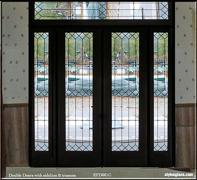 Heritage Leaded glass Doors Sidelights Transom   WOW