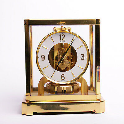 Jaeger Lecoultre Atmos 24k Gold Plated 528-8 Mantel Clock