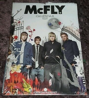 2006 mcfly calendar - official & unopened